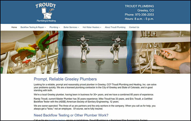 site guy portfolio-troudt plumbing