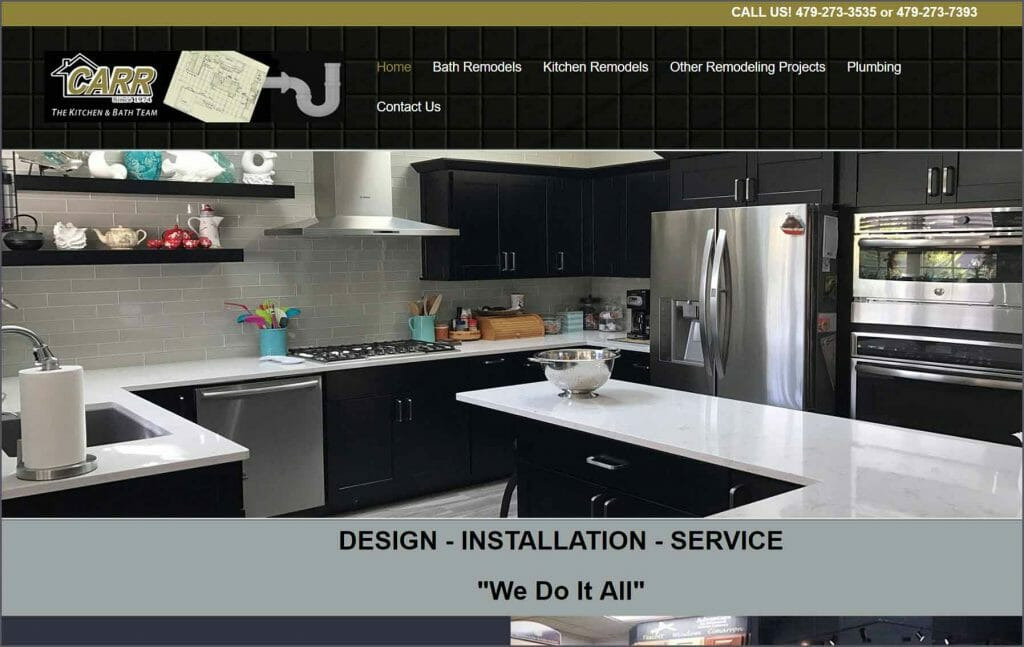 carr plumbing home page