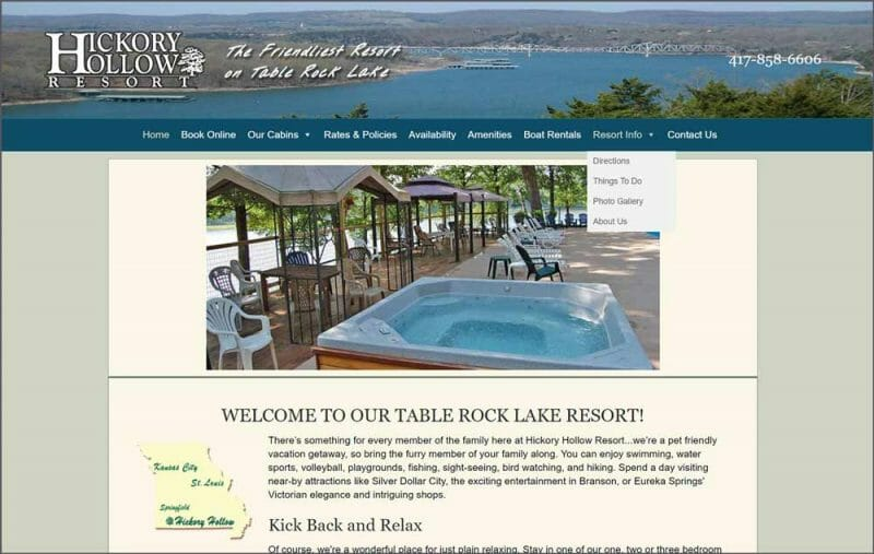 hickory hollow resort home page